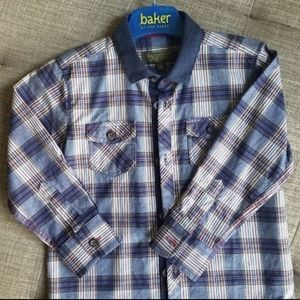 Ted Baker boys plaid shirt NWOT (age 3-4)